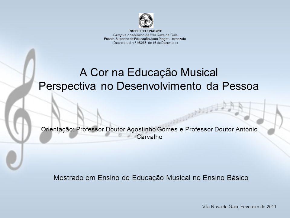 A Cor na Educação Musical Perspectiva no Desenvolvimento da Pessoa