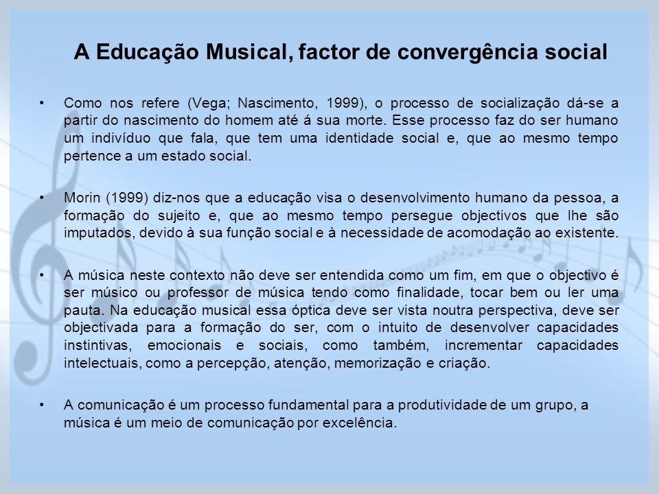 A Educação Musical, factor de convergência social