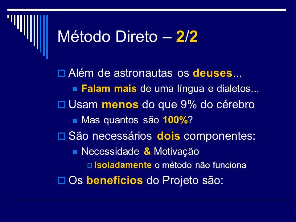 Método Direto – 2/2 Além de astronautas os deuses...