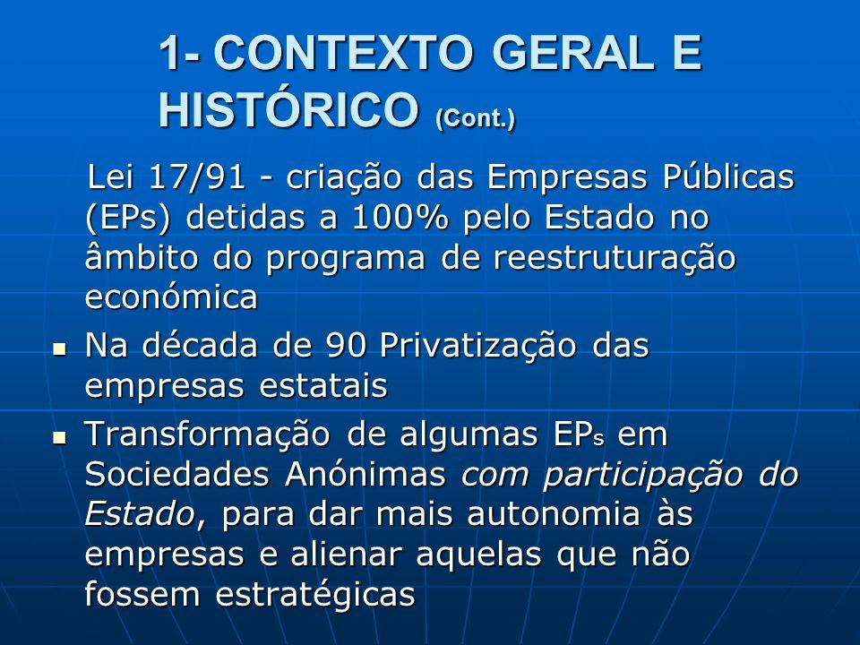 1- CONTEXTO GERAL E HISTÓRICO (Cont.)