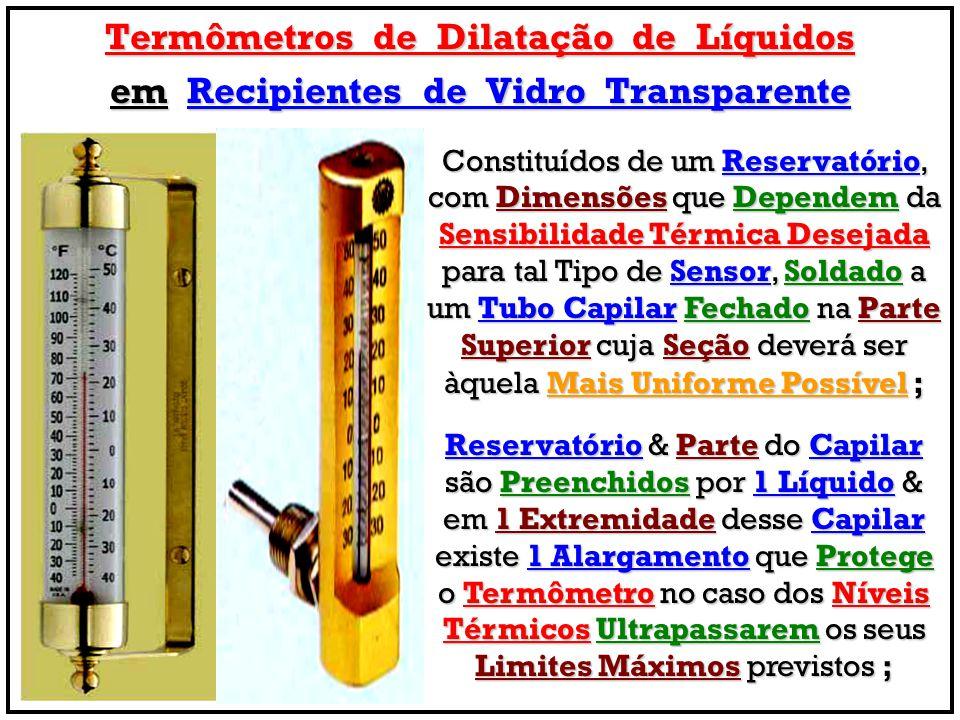 Termômetros de Dilatação de Líquidos