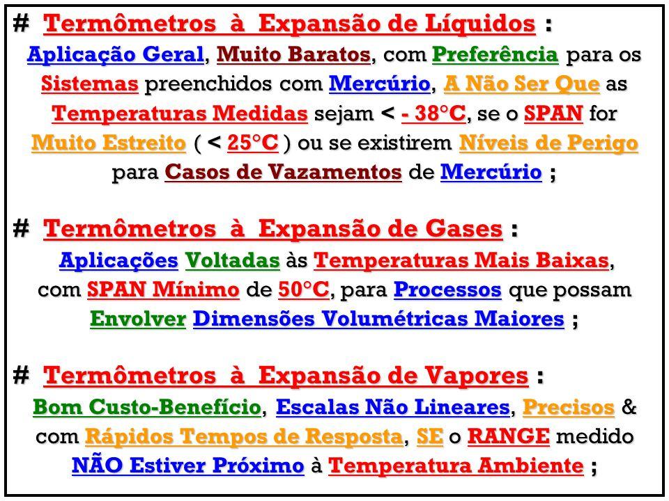 # Termômetros à Expansão de Líquidos :