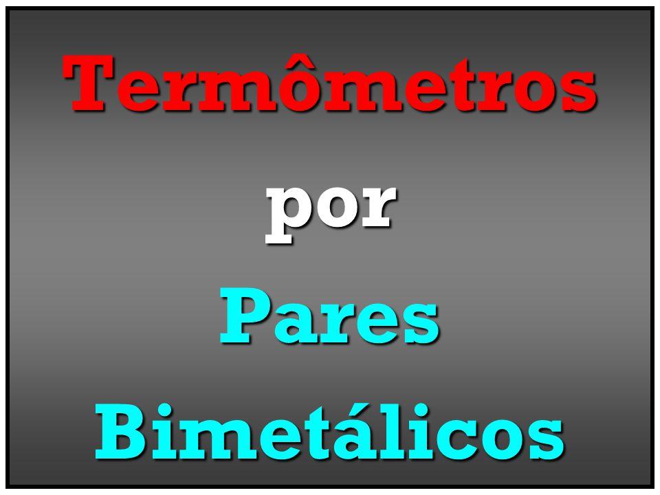 Termômetros por Pares Bimetálicos
