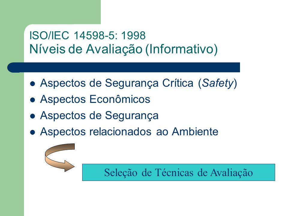 ISO/IEC 14598-5: 1998 Níveis de Avaliação (Informativo)