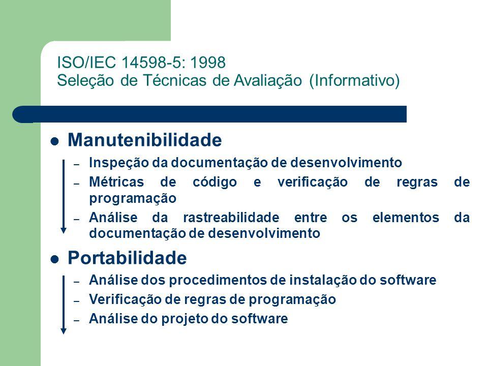 Manutenibilidade Portabilidade