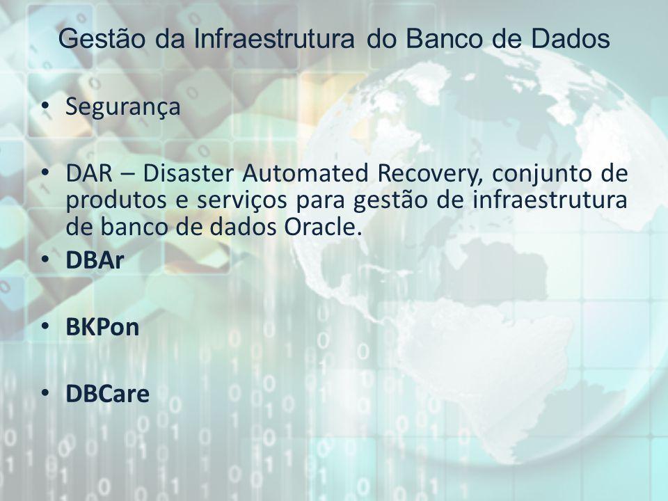 Gestão da Infraestrutura do Banco de Dados