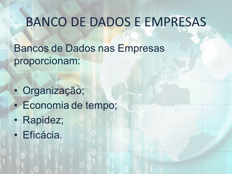 BANCO DE DADOS E EMPRESAS