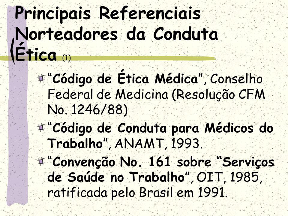Principais Referenciais Norteadores da Conduta Ética (1)