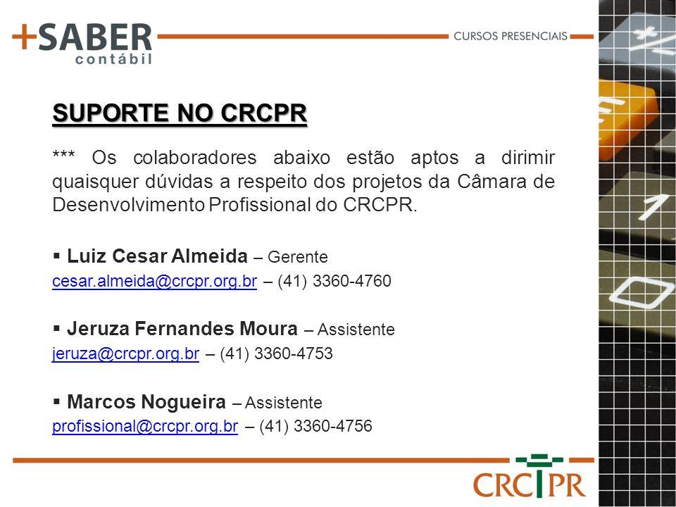 SUPORTE NO CRCPR