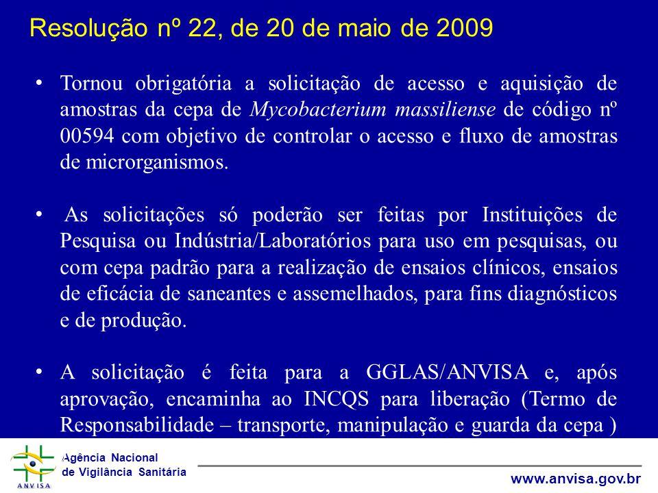 Resolução nº 22, de 20 de maio de 2009