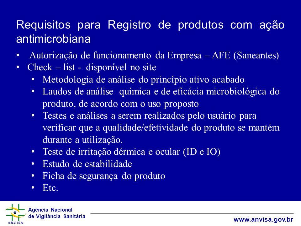 Requisitos para Registro de produtos com ação antimicrobiana