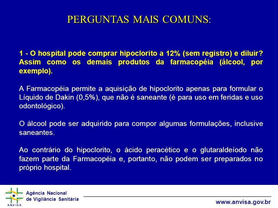 PERGUNTAS MAIS COMUNS: