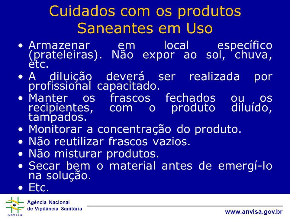 Cuidados com os produtos Saneantes em Uso