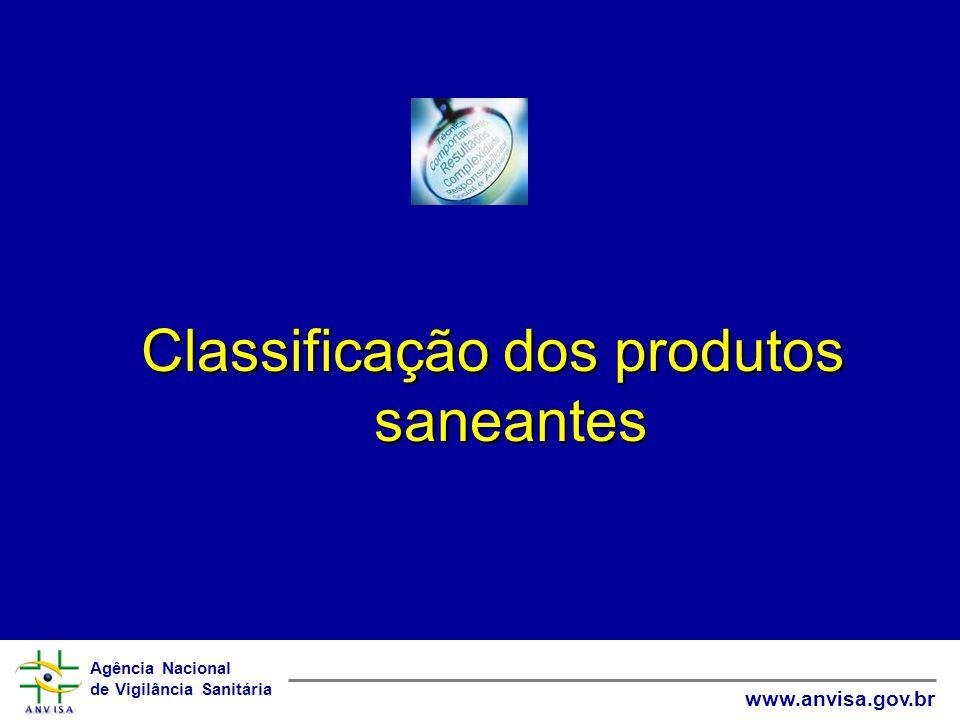 Classificação dos produtos saneantes