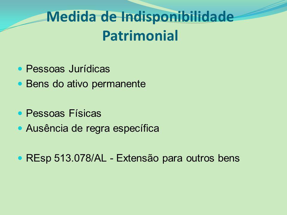 Medida de Indisponibilidade Patrimonial