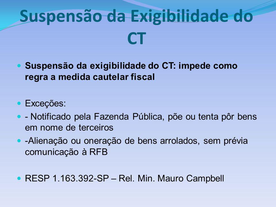 Suspensão da Exigibilidade do CT