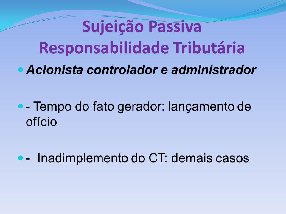 Sujeição Passiva Responsabilidade Tributária
