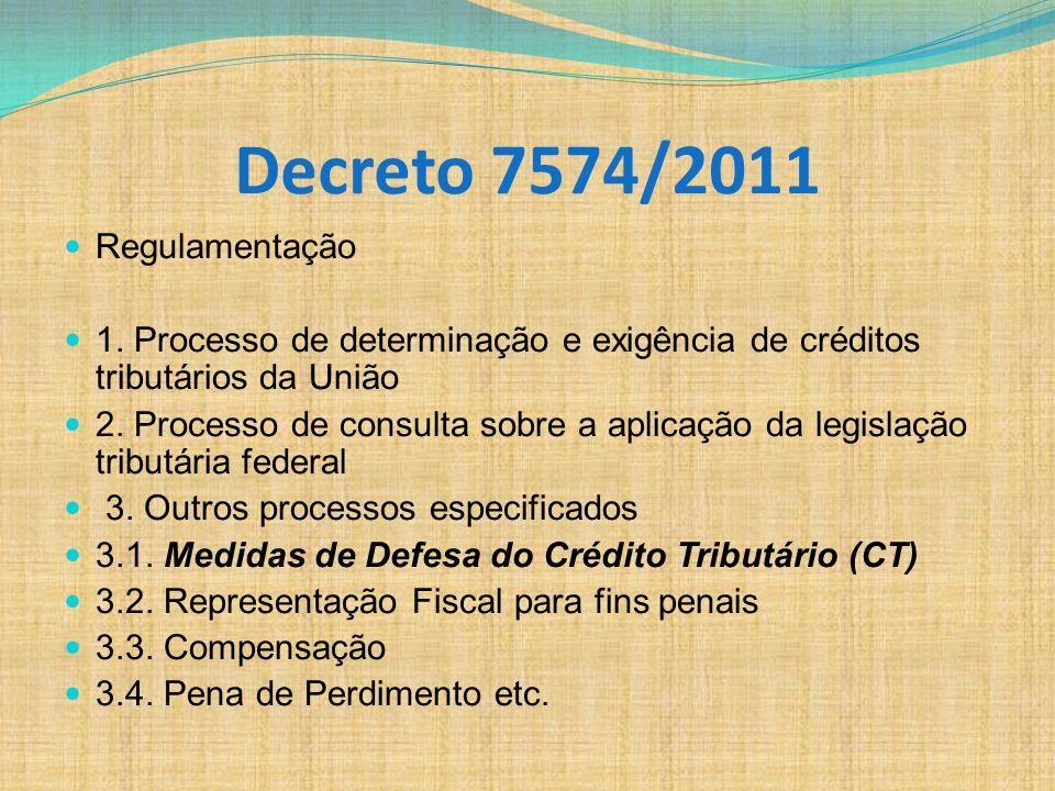 Decreto 7574/2011 Regulamentação
