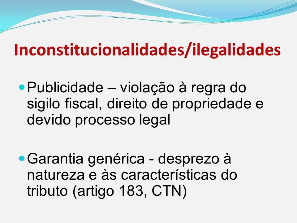 Inconstitucionalidades/ilegalidades