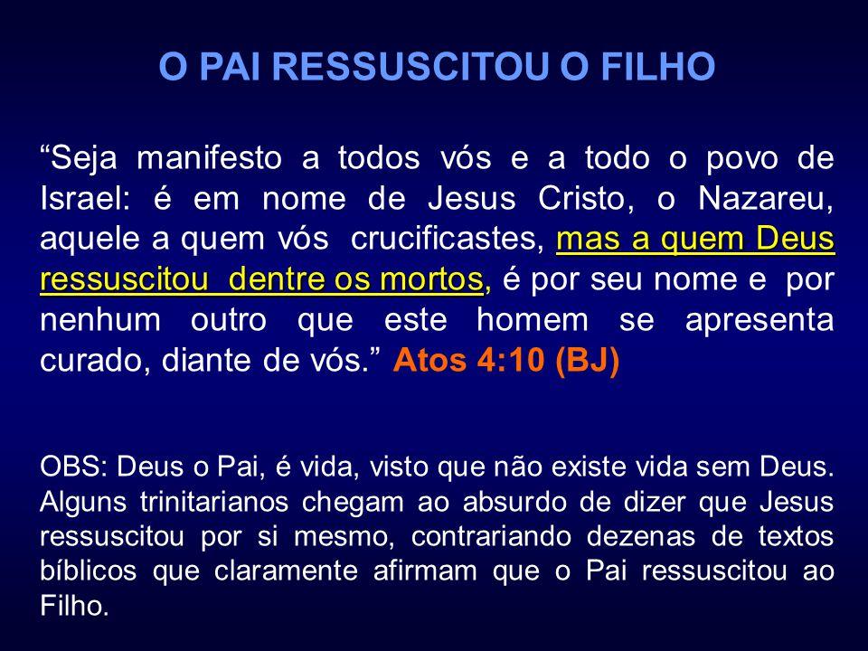 O PAI RESSUSCITOU O FILHO