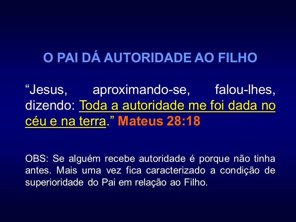 O PAI DÁ AUTORIDADE AO FILHO