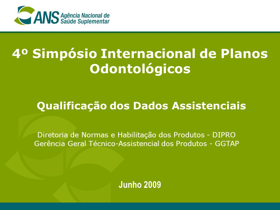 4º Simpósio Internacional de Planos Odontológicos