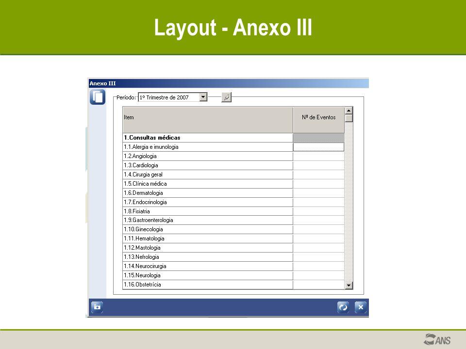 Layout - Anexo III