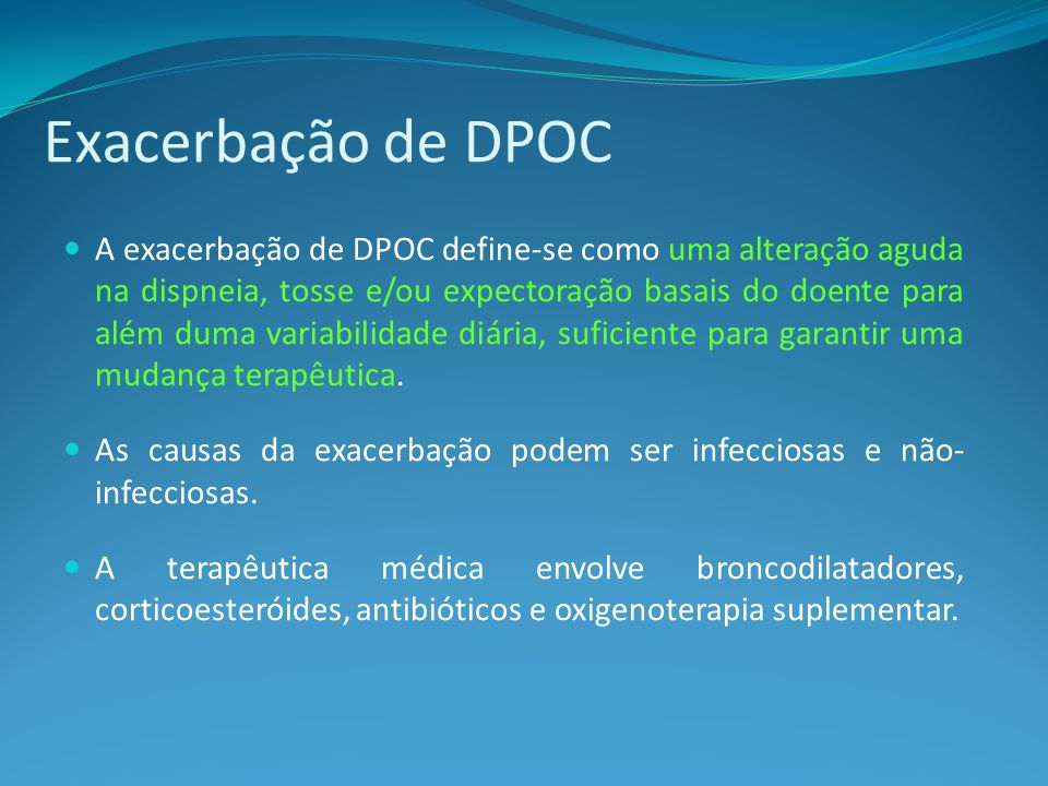 Exacerbação de DPOC
