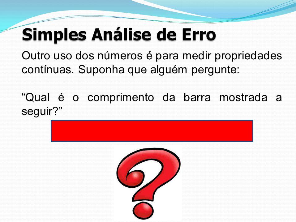 Simples Análise de Erro