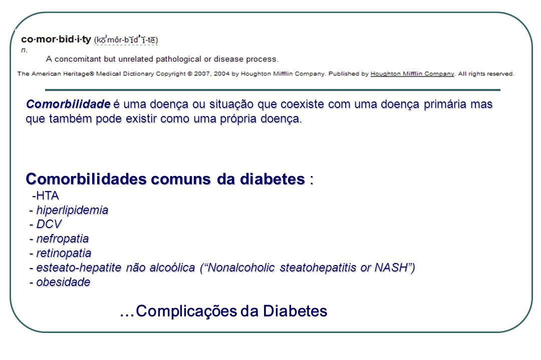 Comorbilidades comuns da diabetes :