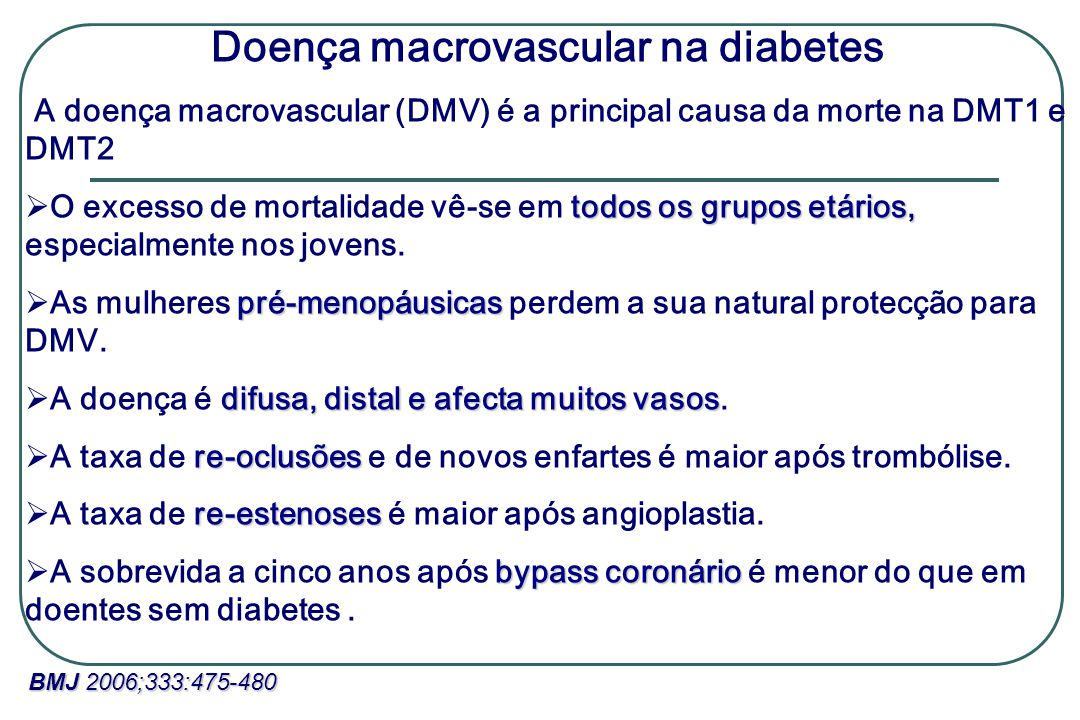 Doença macrovascular na diabetes
