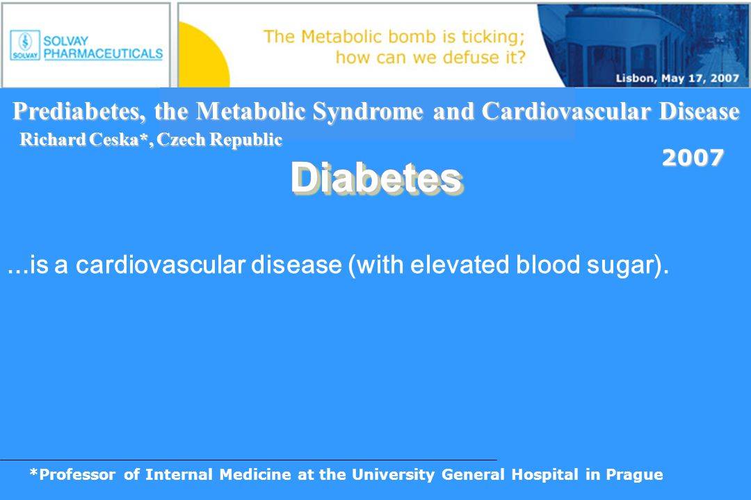 Prediabetes, the Metabolic Syndrome and Cardiovascular Disease