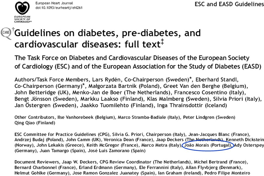 ESC-EASD Guidelines on Diabetes, Prediabetes and Cardiovascular Diseases