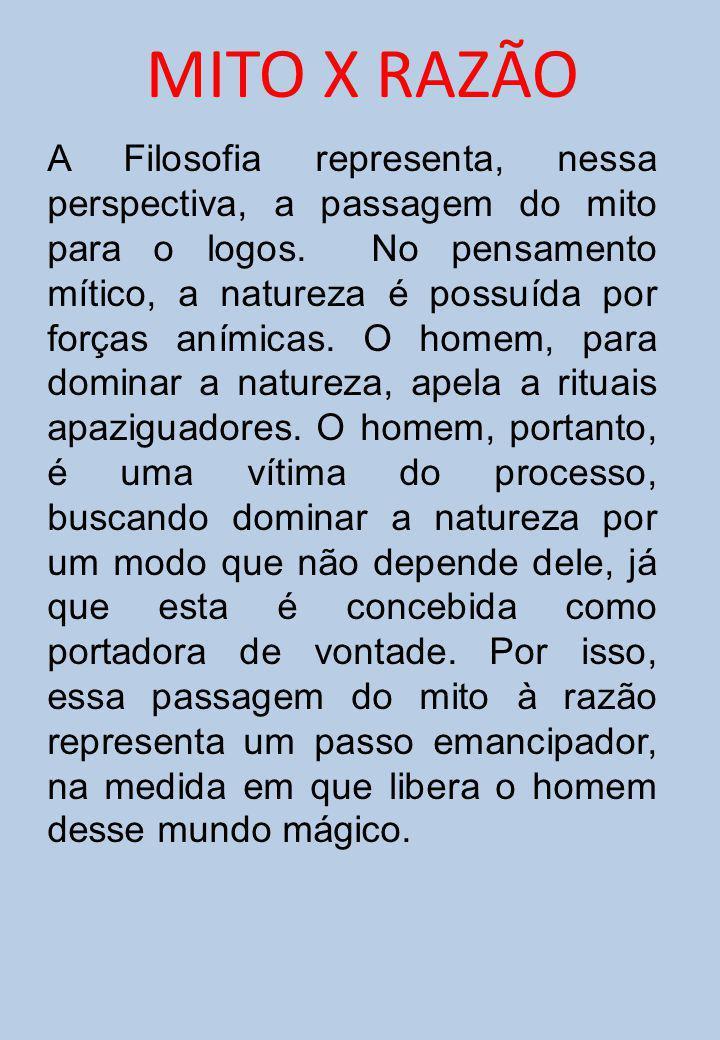 MITO X RAZÃO