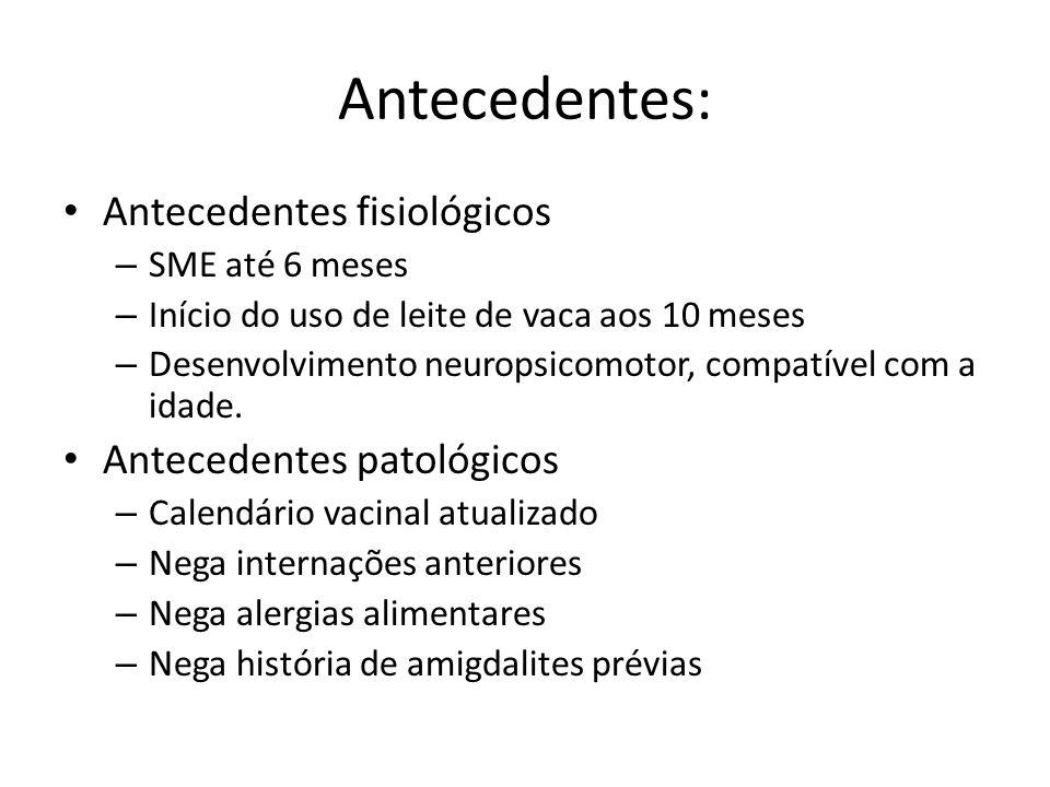 Antecedentes: Antecedentes fisiológicos Antecedentes patológicos