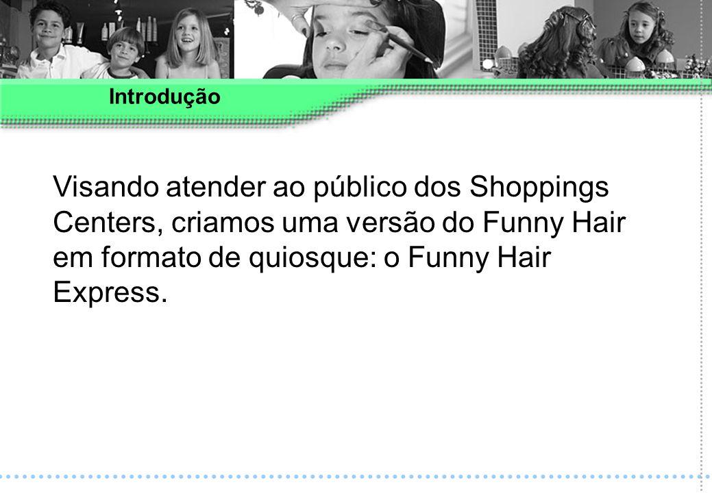 Introdução Visando atender ao público dos Shoppings Centers, criamos uma versão do Funny Hair em formato de quiosque: o Funny Hair Express.