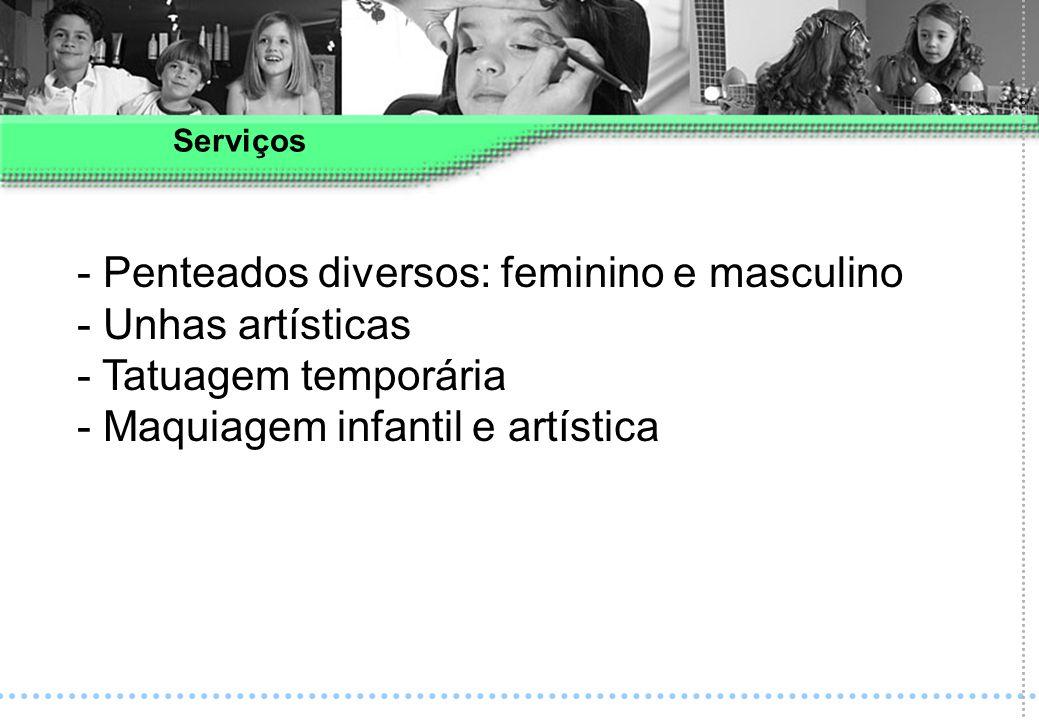 Penteados diversos: feminino e masculino Unhas artísticas