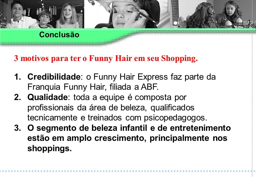 3 motivos para ter o Funny Hair em seu Shopping.