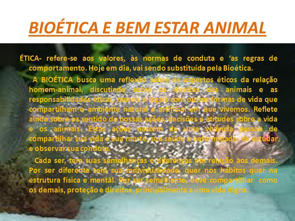 BIOÉTICA E BEM ESTAR ANIMAL
