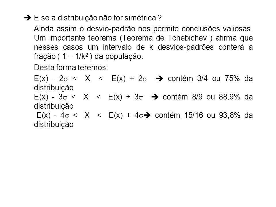 E se a distribuição não for simétrica
