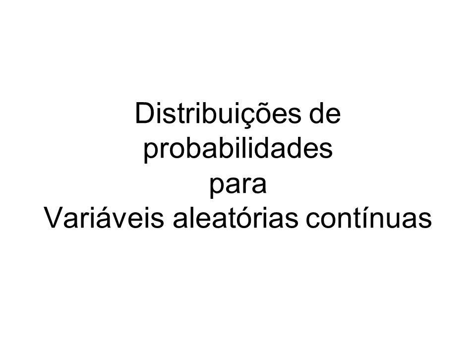 Distribuições de probabilidades para Variáveis aleatórias contínuas