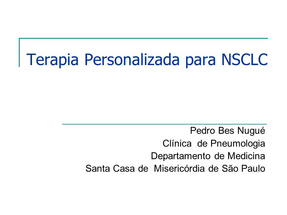 Terapia Personalizada para NSCLC