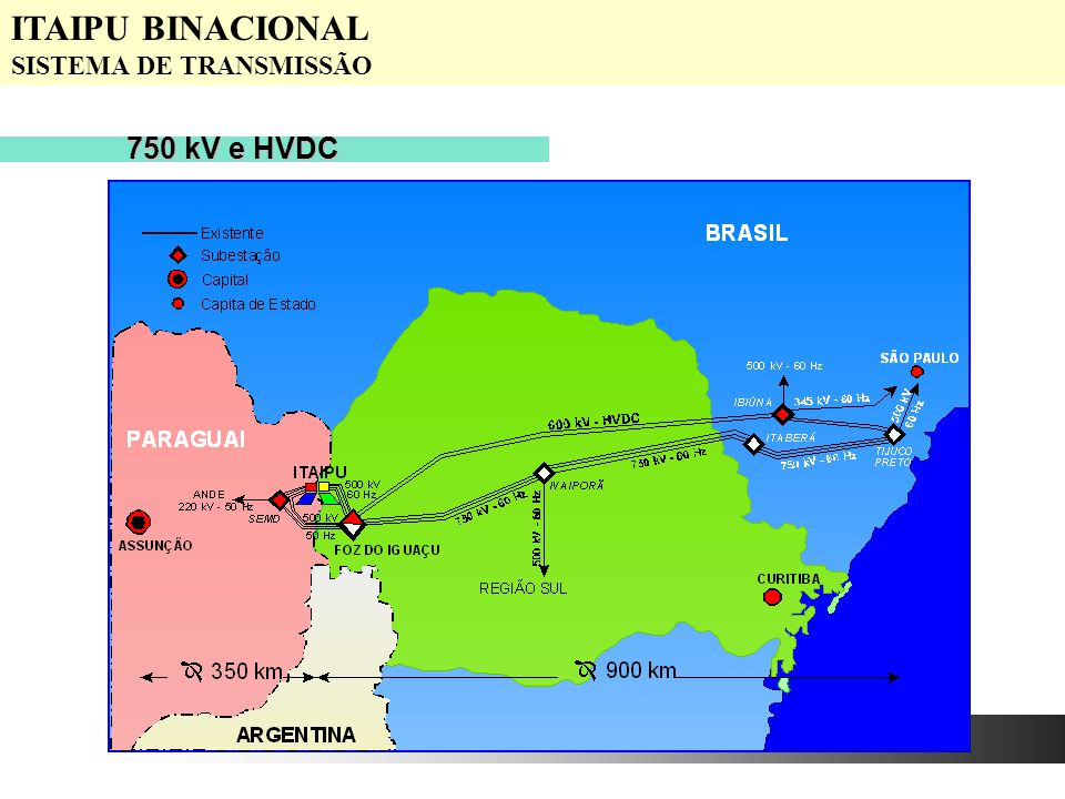 ITAIPU BINACIONAL SISTEMA DE TRANSMISSÃO 750 kV e HVDC