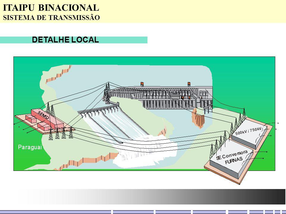 ITAIPU BINACIONAL SISTEMA DE TRANSMISSÃO DETALHE LOCAL