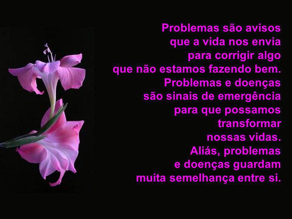 Problemas são avisos que a vida nos envia. para corrigir algo. que não estamos fazendo bem. Problemas e doenças.