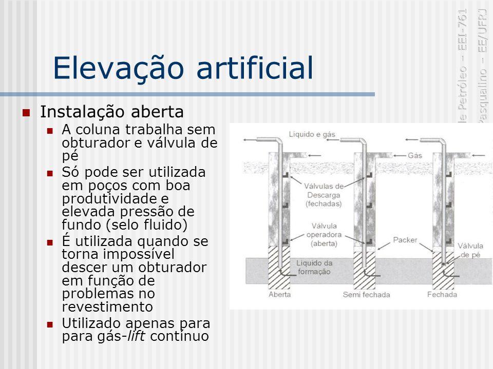 Elevação artificial Instalação aberta