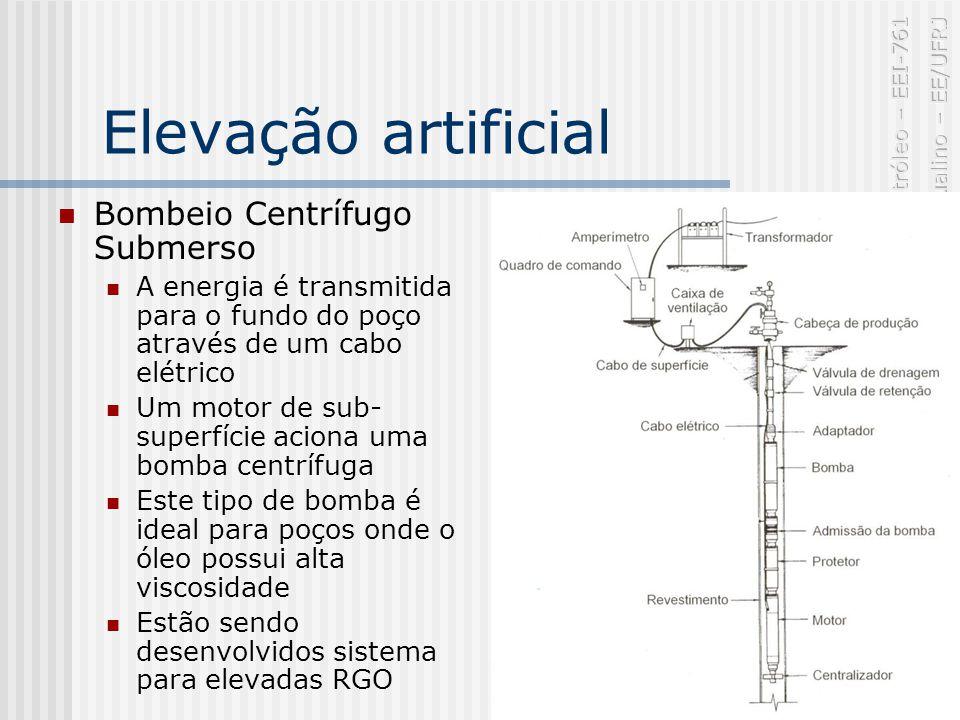 Elevação artificial Bombeio Centrífugo Submerso