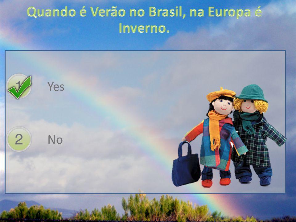 Quando é Verão no Brasil, na Europa é Inverno.