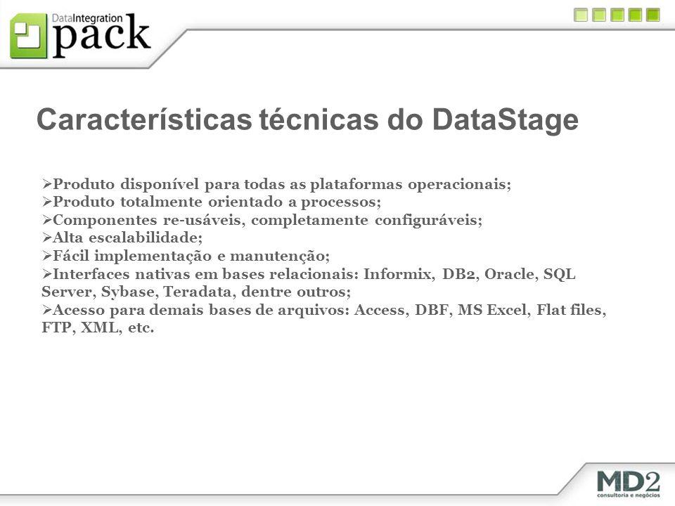Características técnicas do DataStage