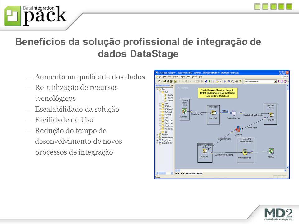 Benefícios da solução profissional de integração de dados DataStage